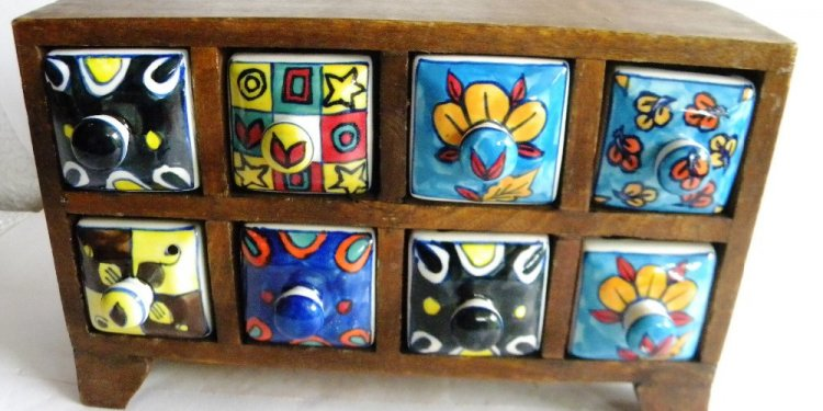 Indian Wooden Chest Cabinet 8