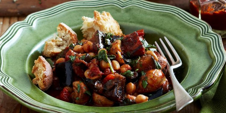 Warm spiced eggplant and