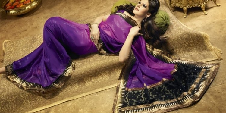 Zarine Khan Purple Shimmer