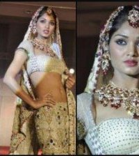 Catwalk Model Wears Lehenga Choli - Vibrant Fashion Week Gujarat Asia 2010