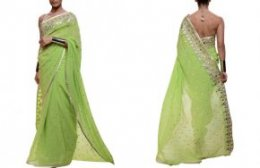 Neon Green Saree from Strand of Silk | The Perfect Guest's Guide to Glamming it up at an Indian Wedding
