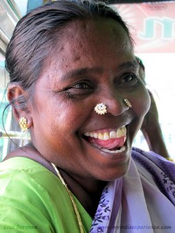 this is certainly a Tamilnadu girl with a double nose-piercing. (Image: Etan Doronne, Wikimedia)